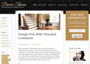 image of the decor theme for WordPress