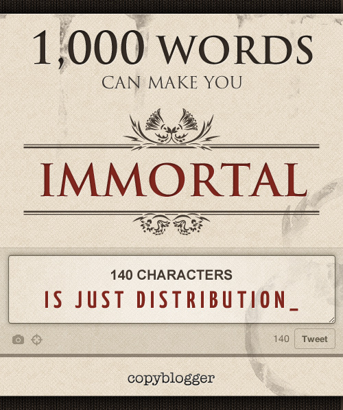 1000 Words Can Make You Immortal