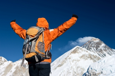 image of climber at Mt. Everest