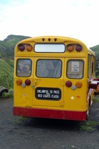 image of old school bus