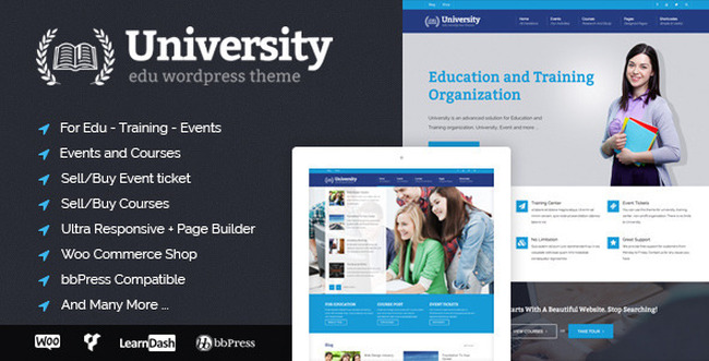 Университет WordPress Theme Обучающие