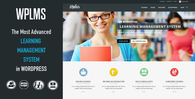 WPLMS Обучающие WordPress Theme