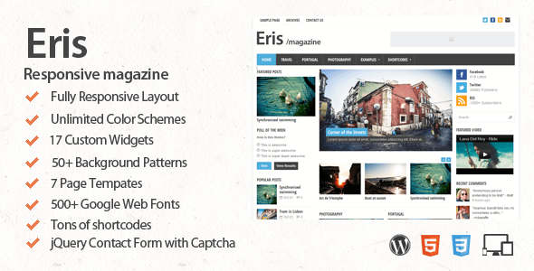 Eris Responsive WordPress Theme