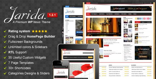 Jarida responsive wordpress theme
